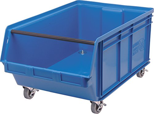 Quantum Storage Systems QMS843MOBBL Heavy Duty Mobile Magnum Bin with Spread Bar, 29