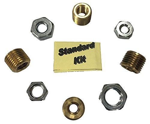 Standard Thread Adapter Kit for 16mm Master Insert Knob - includes 3/8 x 16, 3/8 x 24, 5/16 x 18, 1/2 x 20 (16 Thread Shifter Knobs)