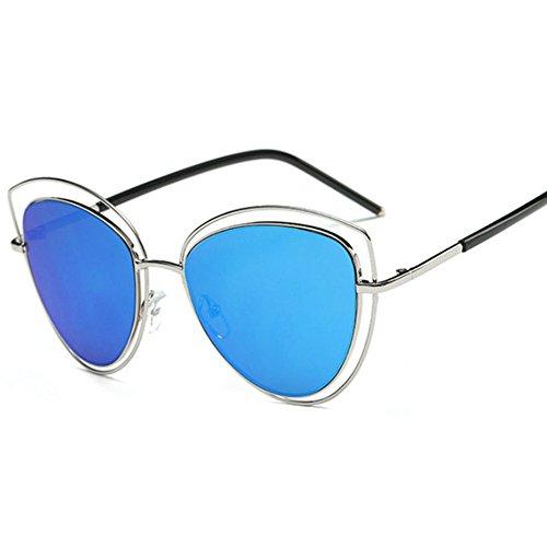 Aoligei Oeil de chat lunettes de soleil lunettes de soleil Metal européen et américain film Lady lunettes de soleil-tendance Fashion E