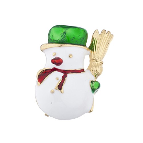 - Lux Accessories Goldtone Christmas X-Mas Holiday Snowman Brooch Pin
