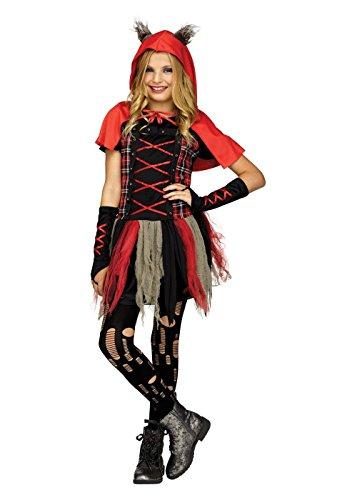 Big Girls' Edgy Red Riding Hood Costume, Medium