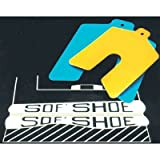 Sof Shoe Shims - 3''x3''x.045'' yellow sof'shoe slotted shim