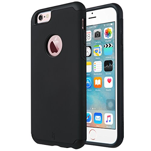 Black Silicone Cell Phone Case (iPhone 6 Case, [Slim Fit] ULAK Sugar Candy [Anti-Slip] Drop Protection with Shock Absorbent [Hybrid PC & Silicone Case] Cover for Apple iPhone 6s / 6 -)