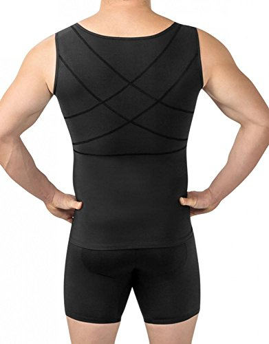 Leo Mens Abs Slimming Body Shaper with Back Support,Black,X-Large (Best Men's Shapewear Reviews)