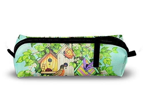 Garden Robin Nest School Pencil Case Multi-Purpose Storage Tote Tools Bag - Nest Ring Fiber
