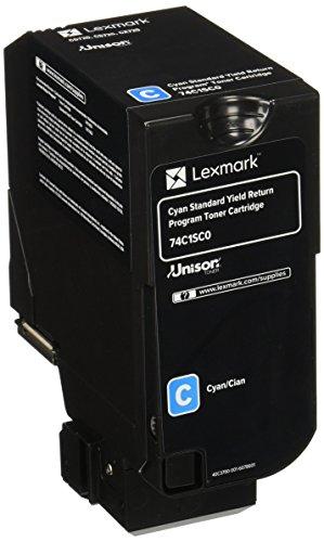 Lexmark 74C1SC0 Unison Toner Cartridge, Cyan
