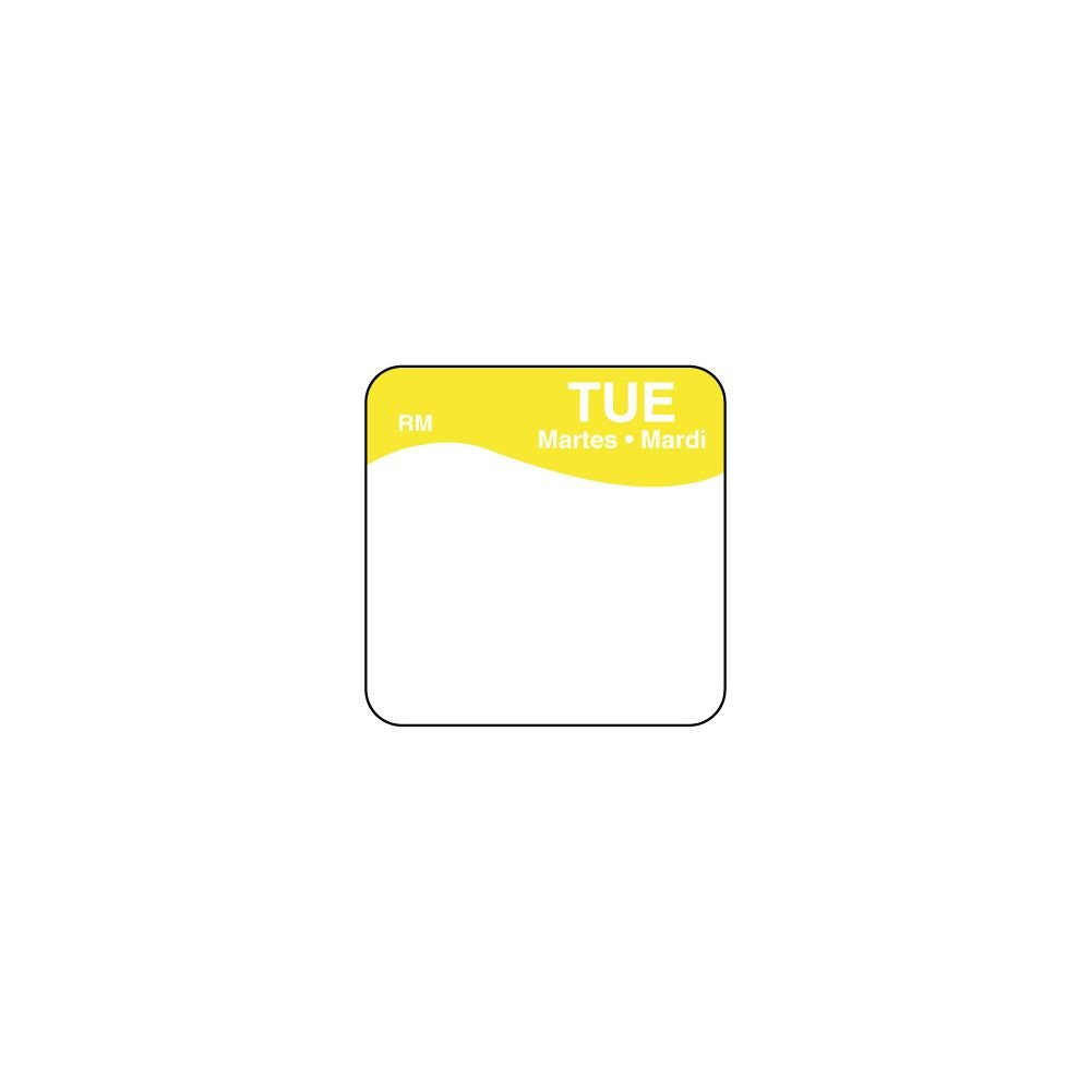 DayMark 1101112 ReMark Bilingual 1'' Tuesday Day Square - 1000 / RL