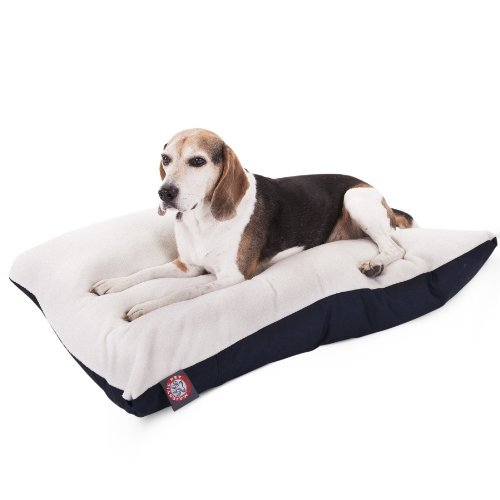 30x40 bluee Rectangle Pet Dog Bed With Removable Washable Cover By Majestic Pet Products Small to Medium by Majestic Pet