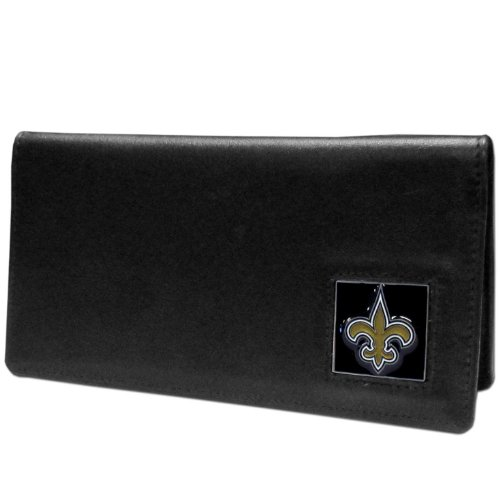 NFL New Orleans Saints Leather Checkbook Cover