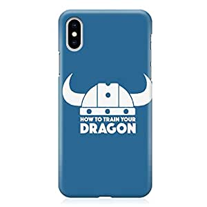 Loud Universe How to train your Dragon iPhone XS Max Case Blue Viking Crown iPhone XS Max Cover with 3d Wrap around Edges