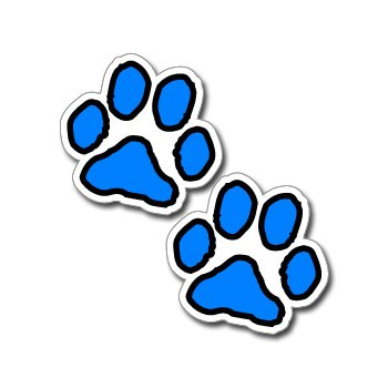 Paw Prints - Blue and Black - Window Bumper Laptop Sticker