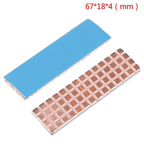6718mm Copper Heatsink Cooler Heat Sink Thermal Conductive Adhesive for M.2 NGFF 2280 PCI-E NVME SSD Thickness 4mm