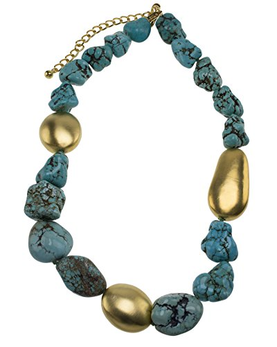 Kenneth Jay Lane femme    Plaqué or Ovale   Turquoise Andere