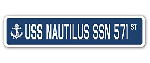 USS Nautilus SSN 571 Street Sign us Navy Ship Veteran Sailor Gift
