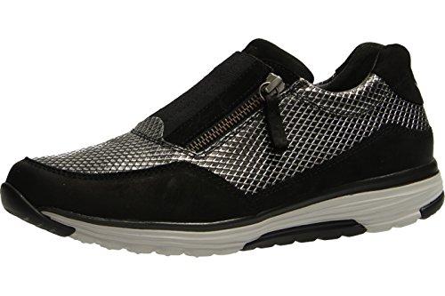 Gabor 56.973.92 - Zapatillas de Piel para mujer Gris gris Schwarz Kombi