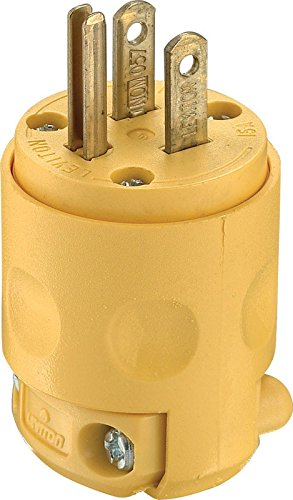 Leviton 000-515PV 15 Amp Grounded Commercial Grade Straight Blade Plug by ....
