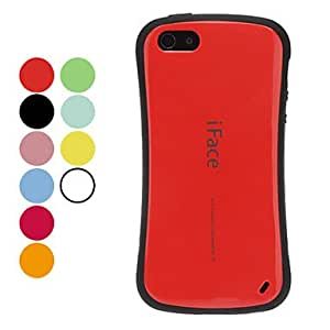 iFace Curvy Waist Designed Urethane and PC Material Hard Case with Interior TPU Protector for iPhone 5/5S (Optional Colors) --- COLOR:Black