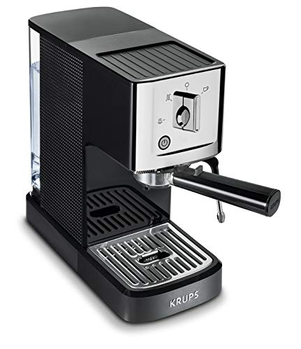 KRUPS XP344C51 Calvi Steam And Pump Professional Compact Espresso Machine Coffee Maker, 1-Liter, Black