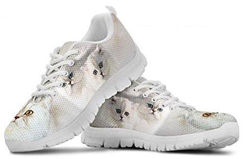 7 5 White Sneakers Men's Persian Cute Print Cat Brand Casual 8gTqwg