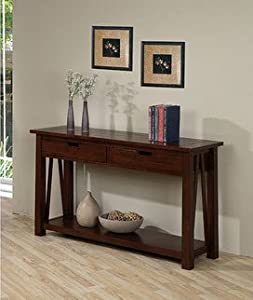 Best Home Ozark Modern 2 Drawer Sofa Console Table Living Room Side Table With