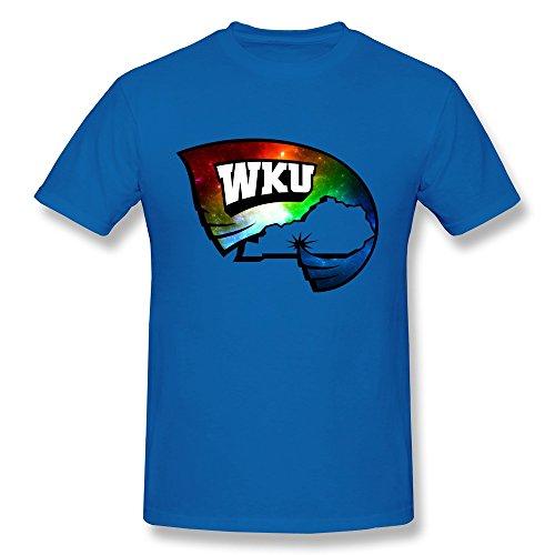 Men's Wku Hilltoppers Football Logo Tshirts New Style Size XXL RoyalBlue