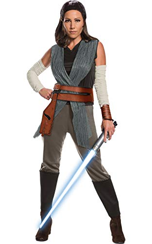 Rubie's Star Wars Episode VIII: The Last Jedi Women's Deluxe Rey Costume  As Shown  Large -