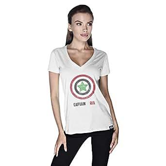 Creo Captain Syria T-Shirt For Women - L, White