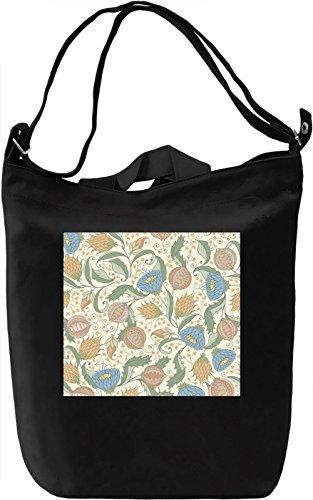 Light Colors Flowers Print Borsa Giornaliera Canvas Canvas Day Bag| 100% Premium Cotton Canvas| DTG Printing|