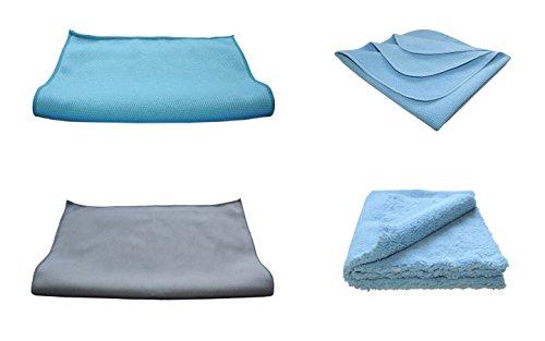 4er Set AC AutoClean Premium Microfaser Tücher + GRATIS Wäschenetz - Deluxe Geschenk für Männer - Premium Markenqualität +