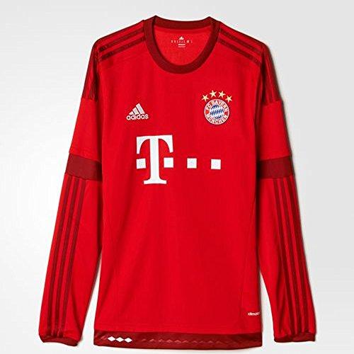 (adidas FC Bayern Munich Home Long Sleeve Jersey (2XL) Red)
