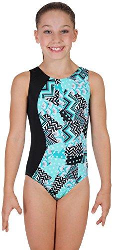 Snowflake Designs Leotards - Snowflake Designs Blue Medley Gymnastics Leotard (Adult Small)