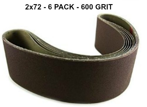 2x72 - 600 Grit 6 Pack - Premium Silicon Carbide Knife Sharpening Belts Made in USA