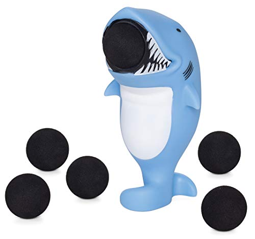 Shark Ball - Hog Wild Shark Popper Toy - Shoot Foam Balls Up to 20 Feet - 6 Balls Included - Age 4+