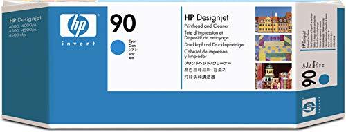 HP 90 Cyan and Cleaner DesignJet Original Ink Cartridge (C5055A) (C5055a Cyan Printhead)