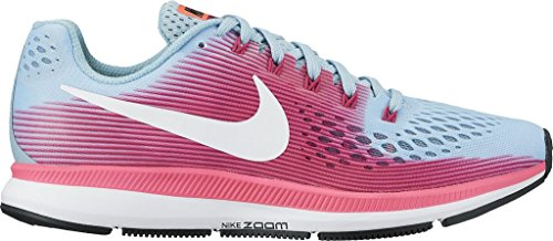 Nike Women's Air Zoom Pegasus 34 Running Shoe Mica Blue/White/Racer Pink/Sport Fuchsia Size 10 M US Air Pink Shoes