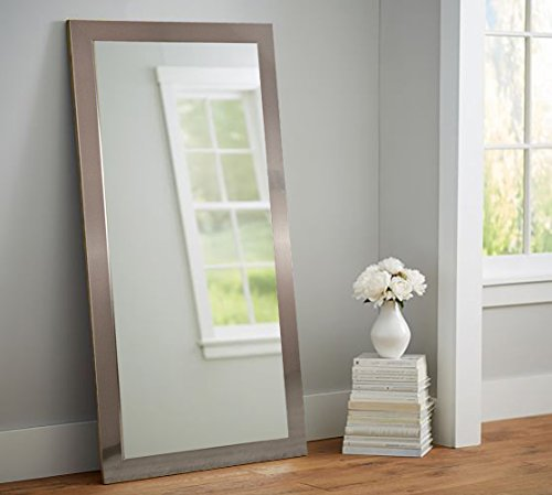 Bedroom Full Size Vanity - BrandtWorks Silver Full Body Floor Mirror