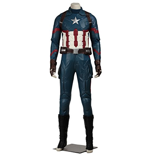 [CosplayDiy Men's Suit for Captain America 3 Civil War Cosplay Costume XXXL] (Captain America Uniform)