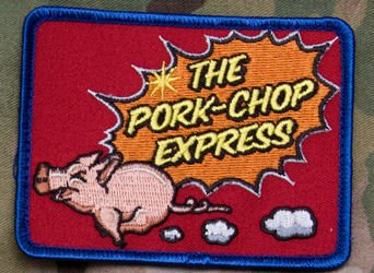 Extreme Sports Appliques (Pork Chop Express Morale Patch (Full Color))