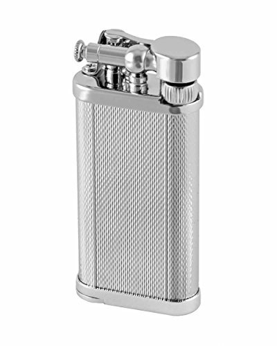 Double Corona Cigar Box (Old Boy Pipe and Cigar Lighter Chrome Barley in an Attractive Gift Box Warranty)
