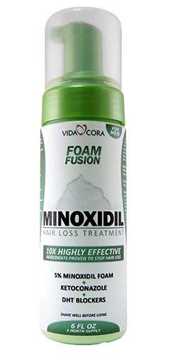 vida Cora Minoxidil espuma fusión 10 X ingredientes altamente eficaces probado revertir caída del cabello