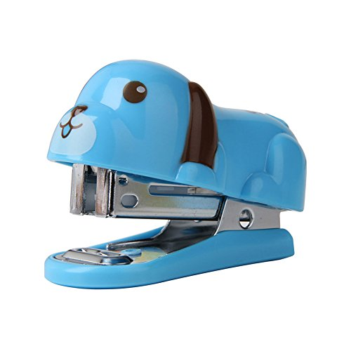 Potato001 Portable Mini Cute Dog Puppy Desktop Stapler with Staples for Office Home Travel (Random Color)