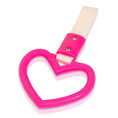 Tsurikawa Handle Japanese Subway Ring Train Bus Handle Hand Strap Drift Charm JDM Bosozoku (Heart: Pink)