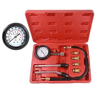BETOOLL HW0130 8pcs Petrol Engine Cylinder Compression Tester Kit Automotive Tool Gauge: Automotive