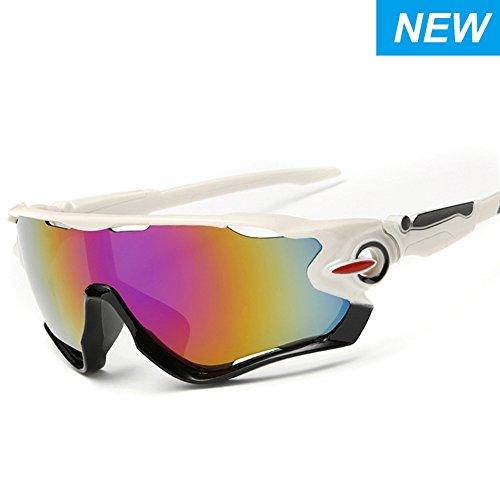 SNEER [2-PACK] Polarized Sports Sunglasses Mens Womens Glasses for Cycling Running Baseball - Up Flip Sunglasses Baseball