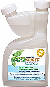 Thetford 36 Ounce 94028 Eco-Smart Free and Clear Holding Tank Deodorant-36 oz