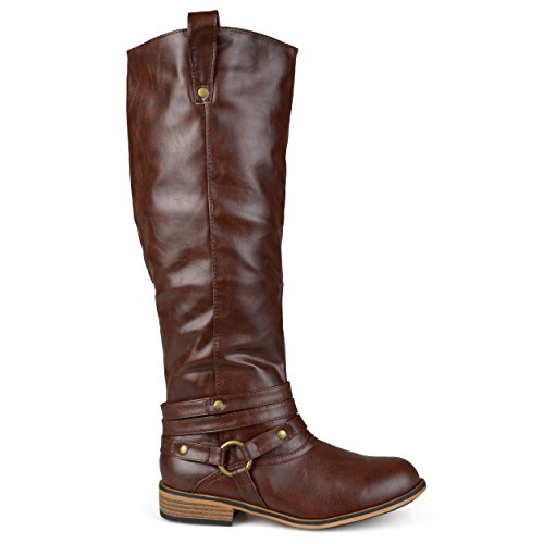 Brinley Co Women's Bailey Riding Boot, Brown, 10 M - Boots Tall Riding