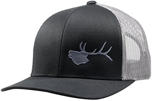 Elk Cap - Lindo Trucker Hat - Bugling Elk - by (Black/Graphite)