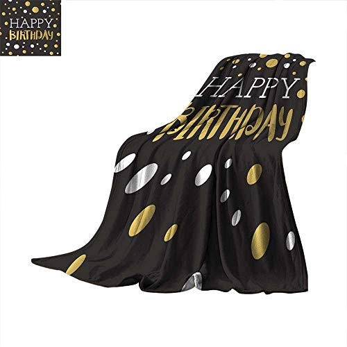 Angoueleven Bed Cover Set of Beautiful Birthday Invitation Cards Decorated Throw Blanket 50