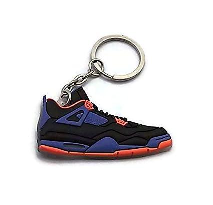 half off 73213 bf8e9 Amazon.com  Air Jordan 4 IV AJ4 Retro Cavs Black Blue Orange Key Chain Ring  Keychain I by Jordan  Office Products