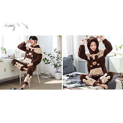 Male Abrigo M Domicilio Otoño Huifa color Pijamas Cálido Con Larga Lana Invierno De E Capucha Coral Xxl Servicio A Traje Manga xf4fUgwq